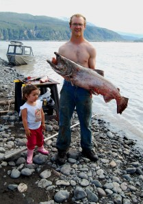 Jared and Hannah with a nice Copper River King!